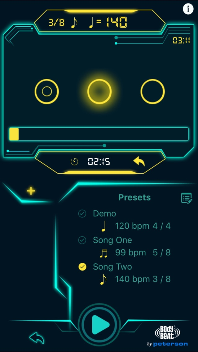BodyBeat Metronome App for iPhone - Free Download BodyBeat
