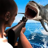 Angry Shark Hunting& Shooting