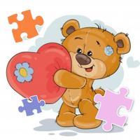 Pretty Bear Jigsaw Puzzle Fun
