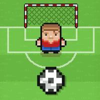 Big football superstar (Impossible Challenge Blocky Racing Pixel Soccer Games)
