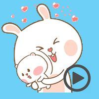 Bear and Rabbit Love Animated