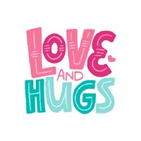 Love & Hugs Adorable Sticker