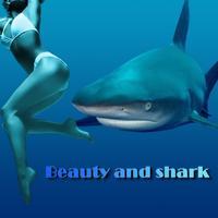 Beauty and shark