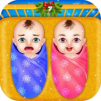 Free Christmas Twins NewBorn Baby Game for kids
