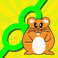 Active Hamster Running In Line - Stay On The Path Game