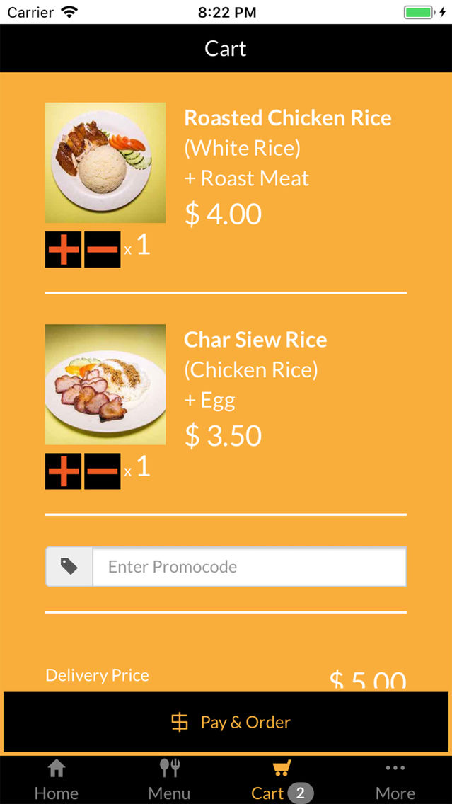 Chicken Rice Delivery App for iPhone - Free Download Chicken