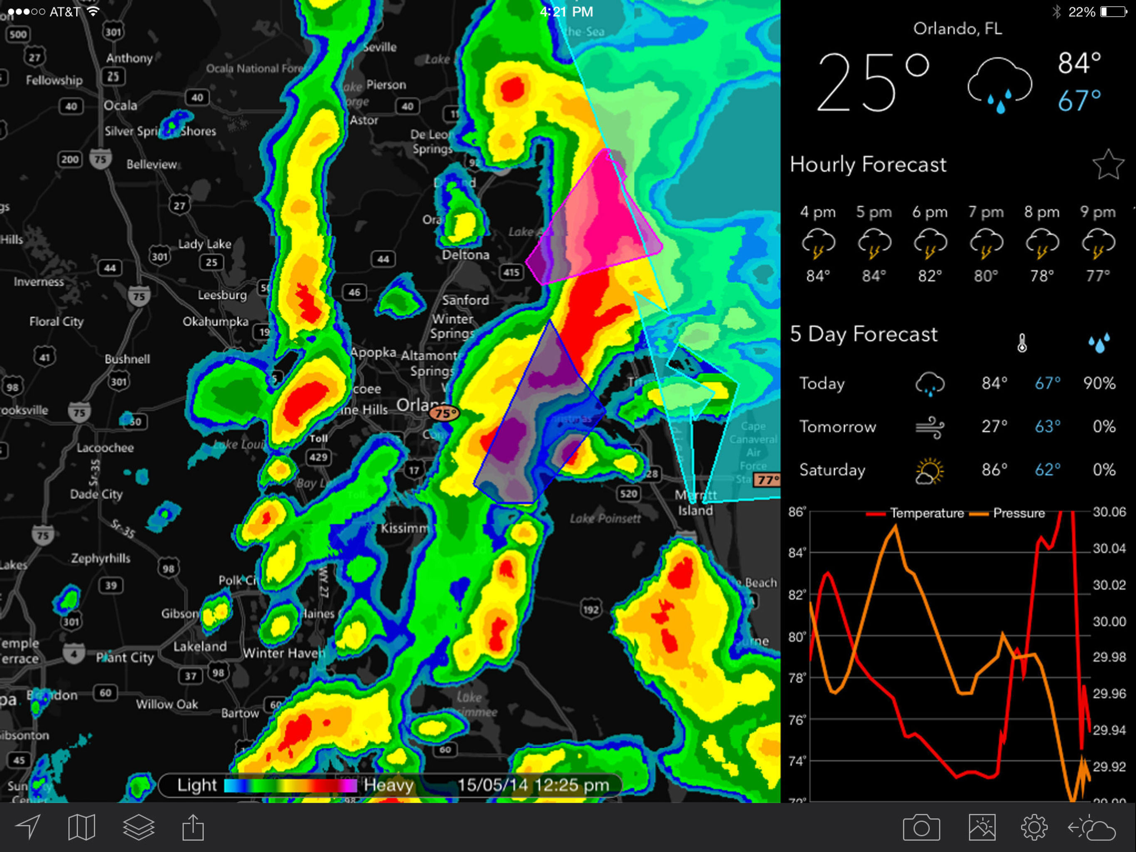 MyRadar NOAA Weather Radar Pro App for iPhone - Free