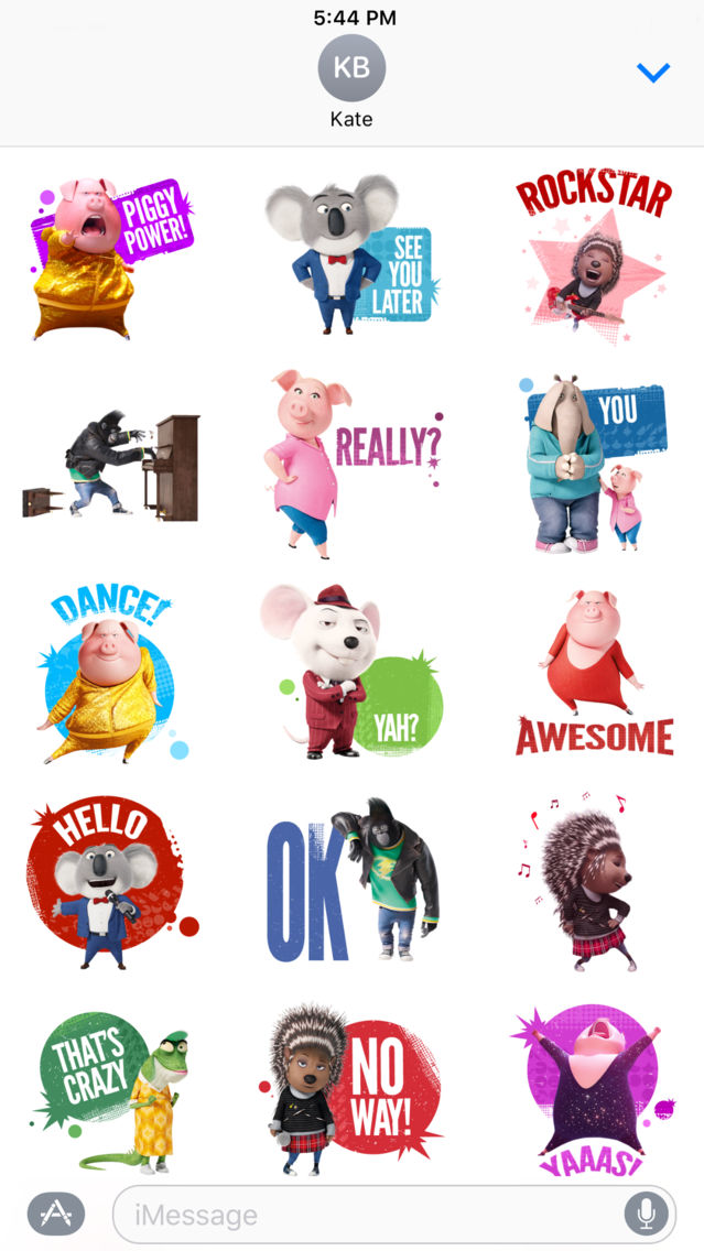 Sing Movie Stickers App For Iphone Free Download Sing Movie Stickers For Iphone Ipad At Apppure