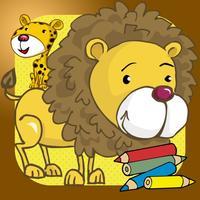 zoo animal kid coloring book hand eye coordination
