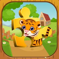English Animal Zoo Puzzles - ABC First Words
