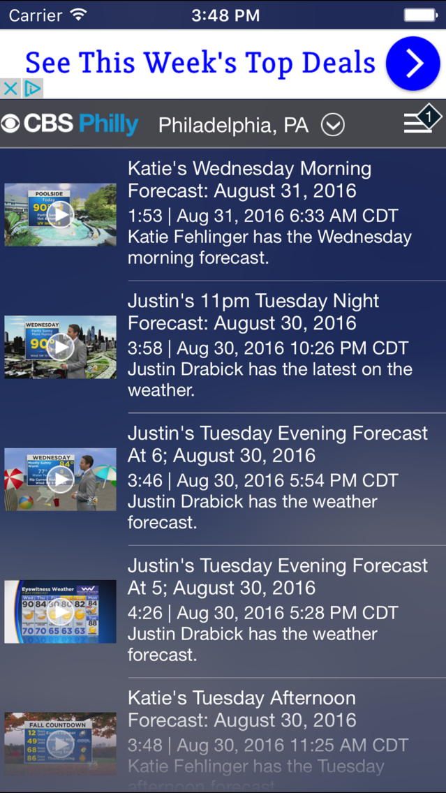 CBS Philly Weather App for iPhone - Free Download CBS Philly