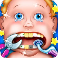 Dentist New-born Baby Games - mommy's crazy doctor office & little kids teeth