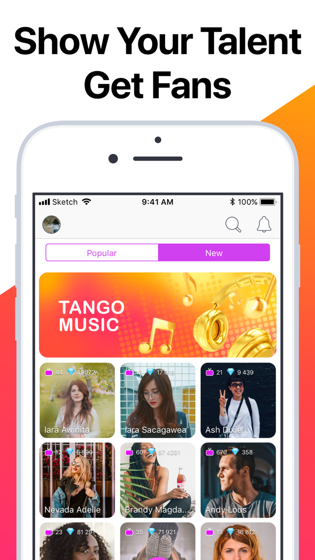 Tango - Live Video Broadcasts App for iPhone - Free Download