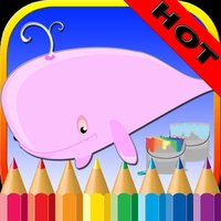 Sea Animals Coloring Book - Underwater Drawing Pages and Painting Learning skill Games For Kid & Toddler