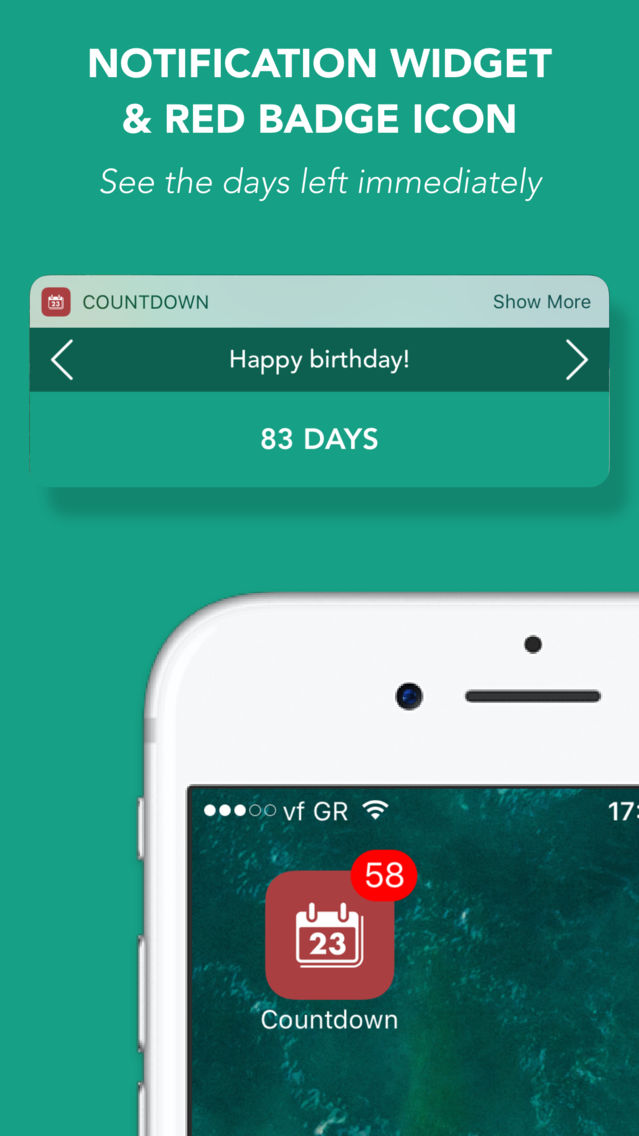 Countdown+++ App for iPhone - Free Download Countdown+++ for iPhone