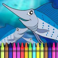 Aquatic Coloring E-Book-Ocean Animals Paint Pages