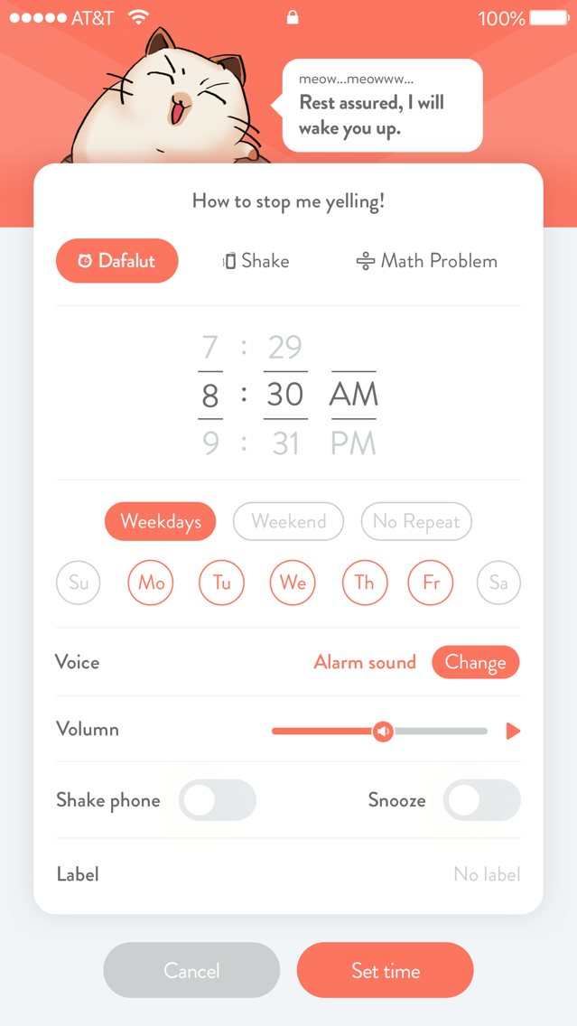 Haru Alarm - Cat Alarm Clock App for iPhone - Free Download Haru
