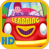Kids ABC Interactive Learning With Beautiful Vehicle Flash Cards