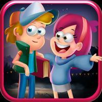 Mystery Kids Run: Gravity Rope
