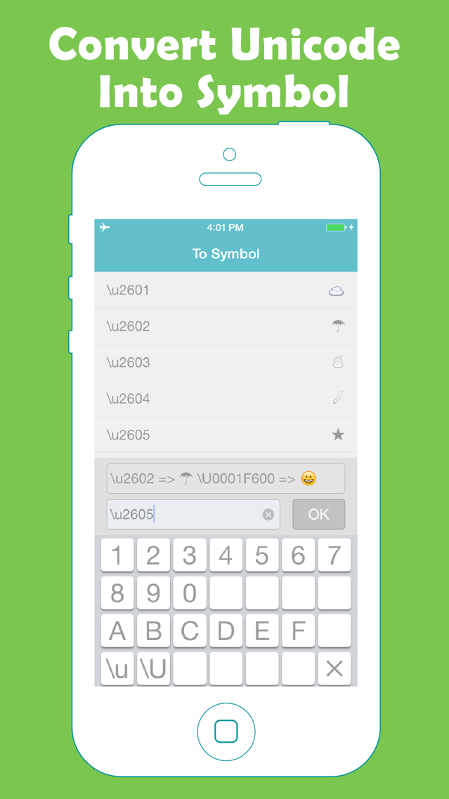 Unicode Converter App for iPhone - Free Download Unicode
