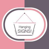 Hang a Sign! II (Pink/Dark Violet)
