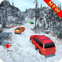 Offroad Jeep Snow Rally