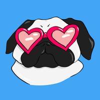 Mr. Puggy - Pug Dog Stickers