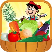 Vegetables Coloring Book Game For Kids