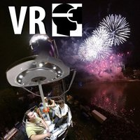 VR City Fireworks Big Wheel Virtual Reality 360