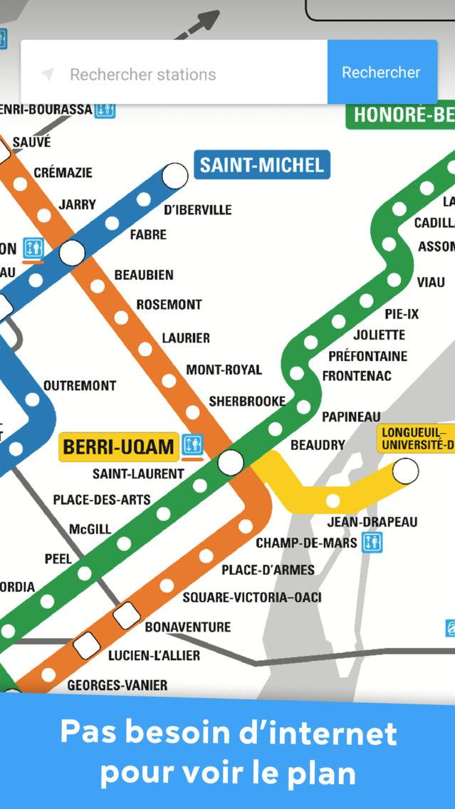 Metro Montreal - STM offline App for iPhone - Free Download