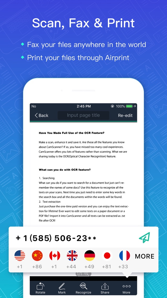 CamScanner-Scanner to scan PDF App for iPhone - Free