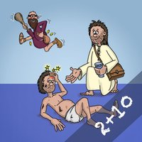 Play Bible 2+10 - arrange bible scenes and listen to the stories