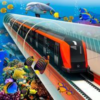 Train Driving Underwater