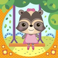 Baby Raccoon : Adventure On Playground