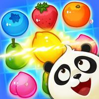 Panda Juice - matching 3 fruit land puzzle adventure