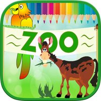 Animals Zoo Kids Coloring Book