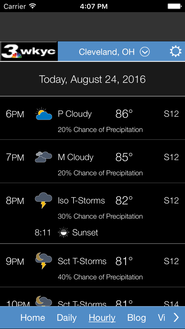 WKYC Weather App for iPhone - Free Download WKYC Weather for