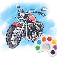 Motorcycle Racing Coloring Book For Kids