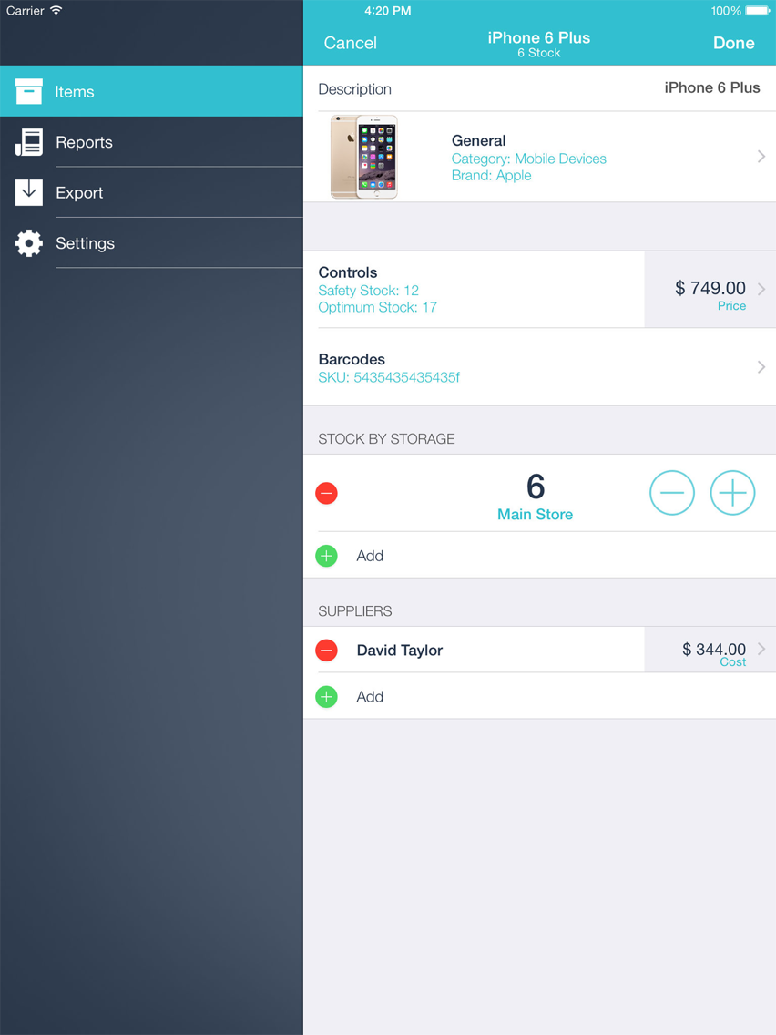 Inventory Control with Scanner App for iPhone - Free