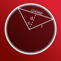 Chord length calculator circle