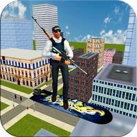 Flying Hover Board Sniper Hero