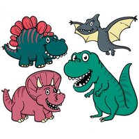 Dinosaurs Drawing Coloring Pages for kids