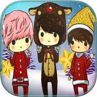 Frozen Santa Christmas Coloring Book
