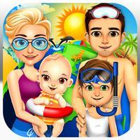 Family Salon Dress-Up Kids Games (Girl & Boy)