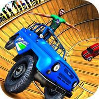 Well of Death Jeep Stunt Rider
