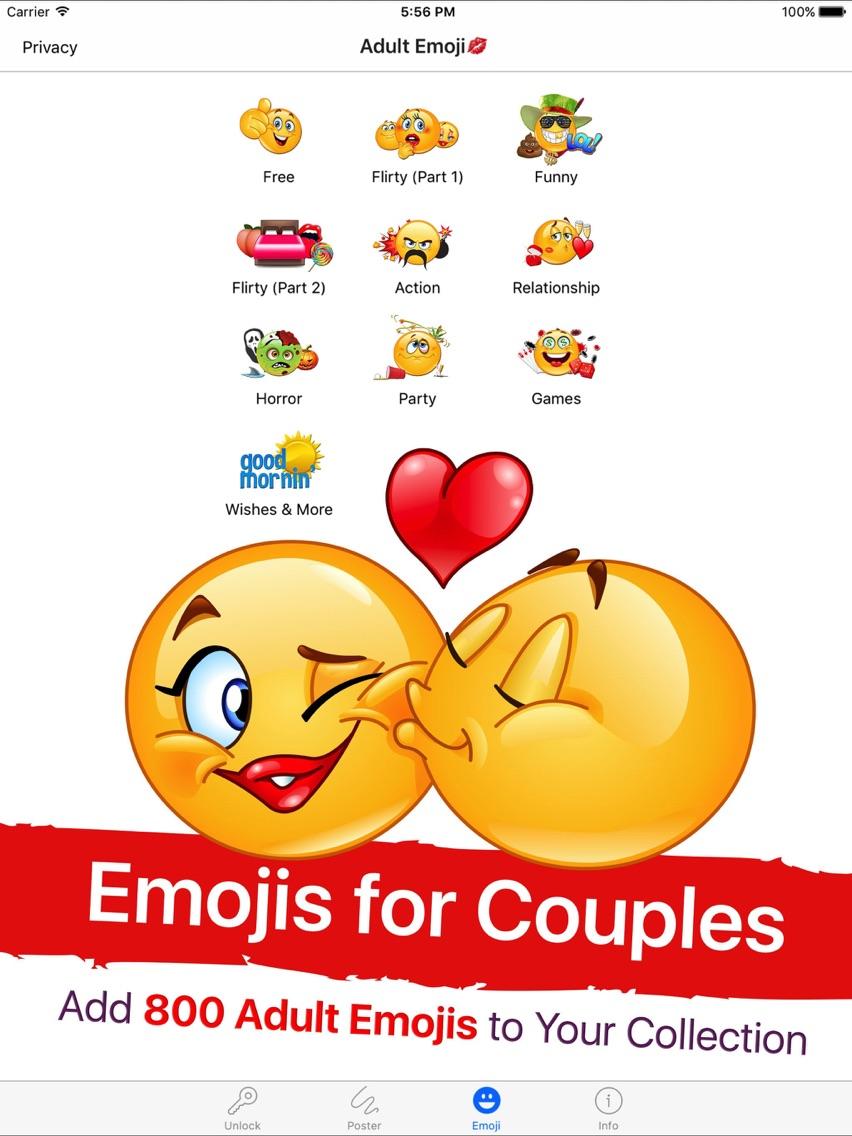 Adult Emoji for Lovers App for iPhone Free Download Adult Emoji