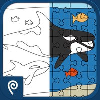 Color It Puzzle It: Sea Creatures Lite