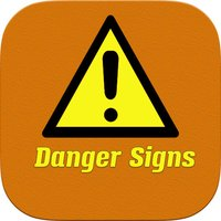 Danger Signs a fun word scramble puzzle game where you unscramble well knows symbols