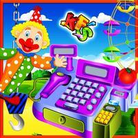 Theme Park Kids Cashier – Cash Register Games