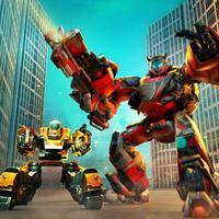 Futuristic Robot Fighting War
